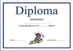 Diploma maken voorbeeld